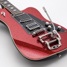 Duesenberg Paloma Electric Guitar in Red Sparkle With Case
