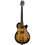 Duesenberg Starplayer TV in 2 Tone Sunburst With Hard Case