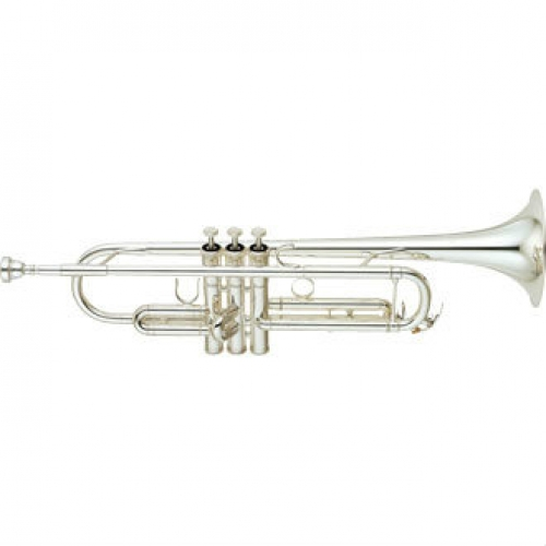 Yamaha YTR6345-GS Bb Trumpet (Silver Plated) with Case & Mouthpiece