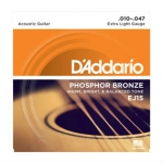 3 Sets of D'Addario EJ15 Phosphor Bronze Acoustic Guitar Strings 10-47