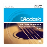 3 Sets of D'Addario EJ16 Phosphor Bronze Acoustic Guitar Strings 12-53