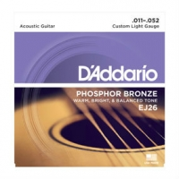 3 Sets of D'Addario EJ26 Phosphor Bronze Acoustic Guitar Strings 11-52