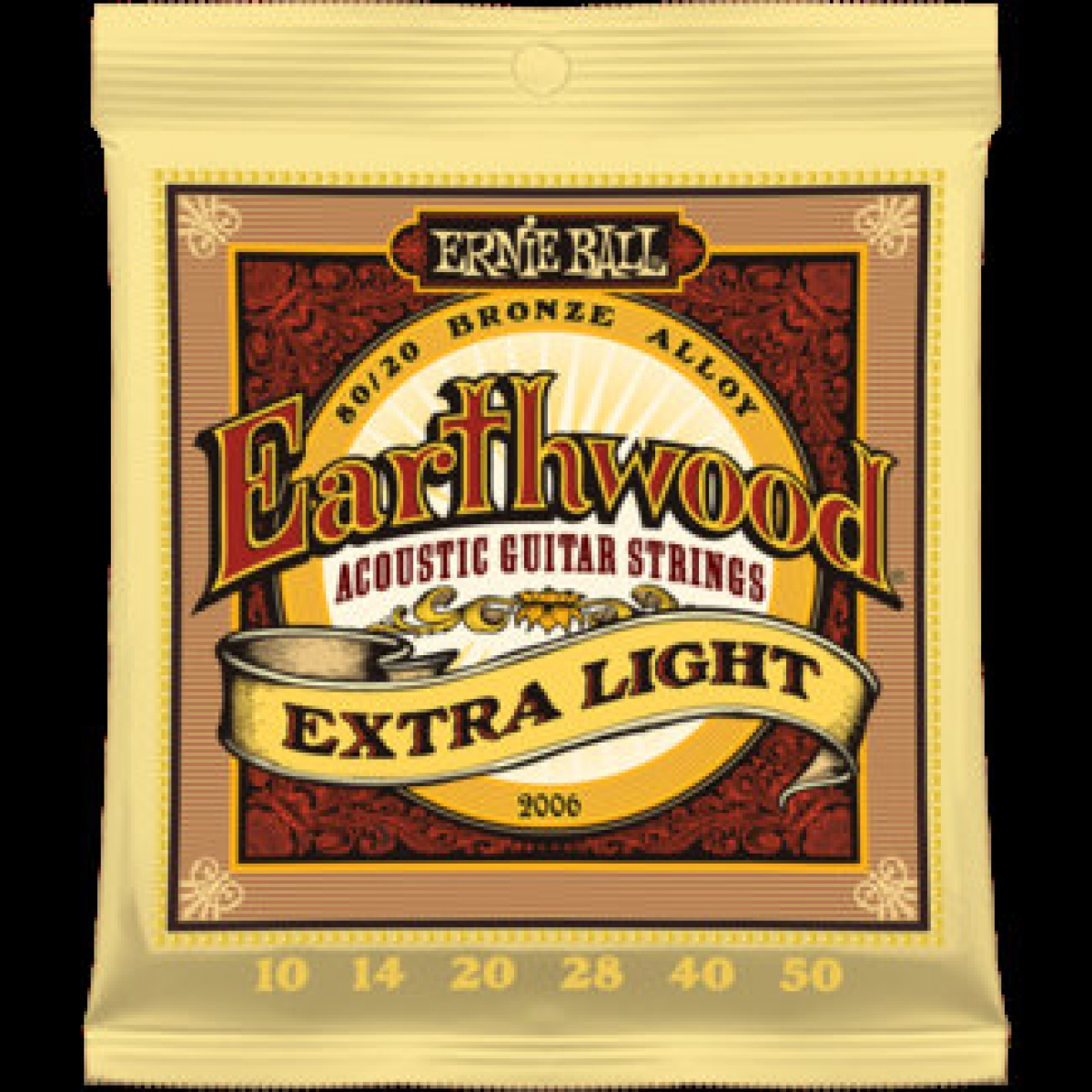3 sets of ernie ball earthwood 2006 acoustic guitar strings 10 50 at promenade music. Black Bedroom Furniture Sets. Home Design Ideas