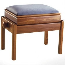 English Made Single Adjustable Piano Stool With Box