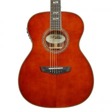 D'Angelico Excel Tammany OM Electro Acoustic Guitar in Auburn