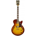 D'Angelico Excel SS Single Cut Hollow Body Guitar With Stopbar in Iced Tea Burst