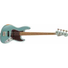 Fender 60th Anniversary Road Worn Jazz Bass, Firemist Silver