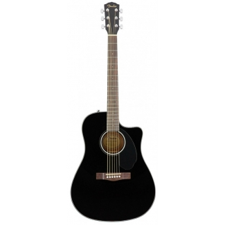 Fender CD60SCE Black Electro Acoustic