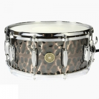 "Gretsch 14"" x 6.5"" USA Hammered Antique Copper Snare Drum G4164HC"