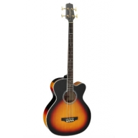 Takamine GB72CE Jumbo Cutaway Electro Acoustic Bass in Brown Sunburst