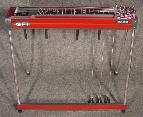 GFI S10E Expo Single Neck Pedal Steel Guitar In Red Mica Inc Hard Case