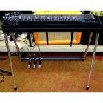 GFI S10E Expo Single Neck Pedal Steel Guitar With Hard Case, Black Mica