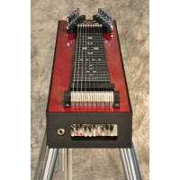 GFI S10SM Student Single Neck Pedal Steel Guitar With Hard Case in Black