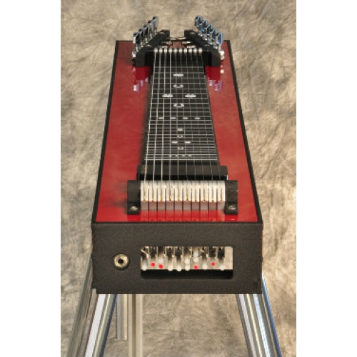 GFI S10SM+ Student Single Neck Pedal Steel in Red Mica With Hard Case