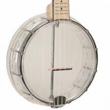 Gold Tone Little Gem Ukulele Banjo in Diamond Clear With Gig Bag