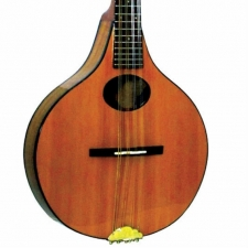 Ashbury Lindisfarne All Solid Mandolin In Natural with Case (GR31019)