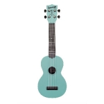 Waterman by Kala Soprano Uke, Glow-in-the-Dark Aqua Matte