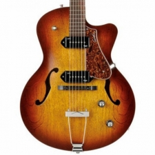 Godin 5th Avenue CW Kingpin II Cognac Burst, Cutaway