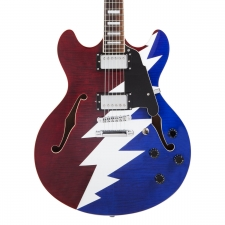 D'Angelico Premier Grateful Dead DC Double Cut Hollow Body Guitar