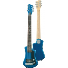 Hofner HCT Shorty Travel Electric Guitar In Blue With Gig Bag