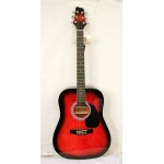 Westcoast SW201RDS VT Electro Acoustic Guitar Red Burst