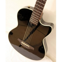 Westcoast SS Solid Slim Electro Nylon Guitar In Black