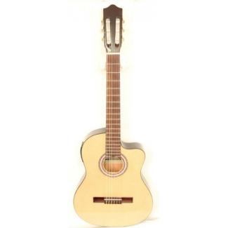 Westcoast Slim Body Electro Acoustic Classical Guitar in Natural