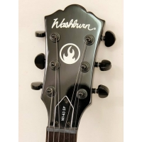 Washburn WI63SF Donegan Signature in Black Silver Flame