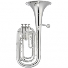 Jupiter JBR730S Bb Baritone Outfit in Silver-plate With Mouthpiece & Case