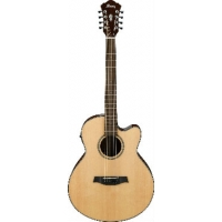 Ibanez AEL108TD NT 8-String (Double E&B) Acoustic-Electric Guitar Natural
