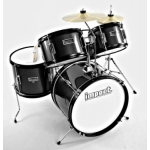 Impact 5 Piece Junior Drum Kit Ideal Starter Kit, Black