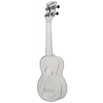 The Waterman by Kala Soprano Uke, Transparent Ice