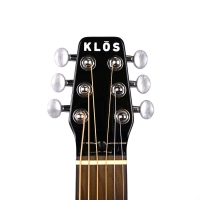 KLOS Electro Travel Guitar with Stiffening Neck Rods & Gig Bag (T_AE)