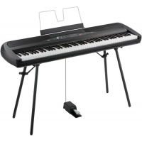Korg SP280 Portable Piano in Black with Stand & Pedal
