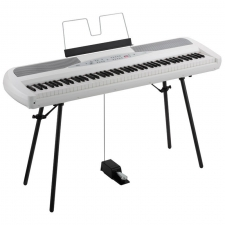 Korg SP280 Portable Piano in Black or White (With Built-in Speakers)