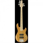 G&L Tribute L2500 5-String Bass Guitar In Natural, Secondhand