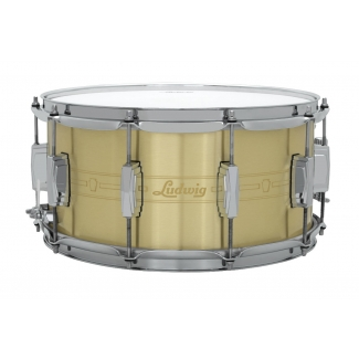 "Ludwig Heirloom 14"" x 7"" Brushed Brass Snare Drum LBR0714"