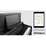 Roland LX7 Digital Piano, Classic Brown Walnut