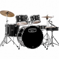 "Mapex Tornado 22"" Rock Drum Kit in Black with Hardware & Cymbals"