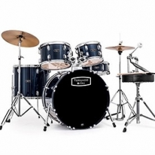 "Mapex Tornado 22"" Rock Drum Kit in Blue with Hardware & Cymbals"