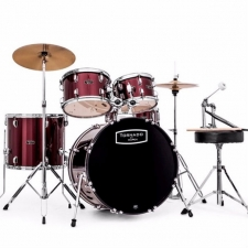"Mapex Tornado 22"" Rock Drum Kit in Burgundy with Hardware & Cymbals"