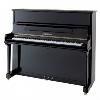Bluthner Model A Upright Piano in Polished Black