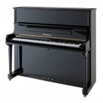 Bluthner Model B Upright Piano in Polished Black
