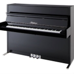Bluthner Model D Upright Piano in Polished Black