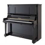 Bluthner Model S Upright Piano in Polished Black