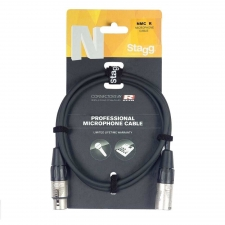 Stagg Male-Female XLR Lead 3M (10FT) Microphone Cable (NMC3R)