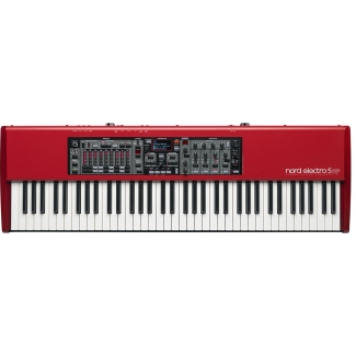 Nord Electro 5 HP Synthesizer - 73 Note Weighted Piano Synth in Red