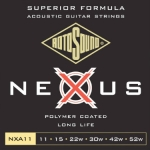 3 Sets of Rotosound Nexus NXA11 Coated Acoustic Guitar Strings 11-52