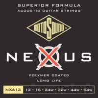 3 Sets of Rotosound Nexus NXA12 Coated Acoustic Guitar Strings 12-54
