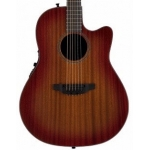 Ovation 2771STR-MB Main Street Deep Cutaway Mahogany Electro inc Case
